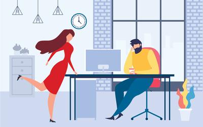 6 признаков того, что в вас влюблен коллега