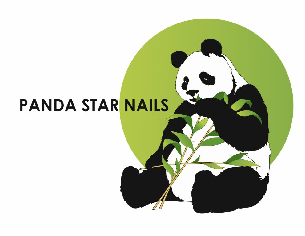 Panda Star Nails