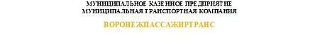 МКП МТК Воронежпассажиртранс